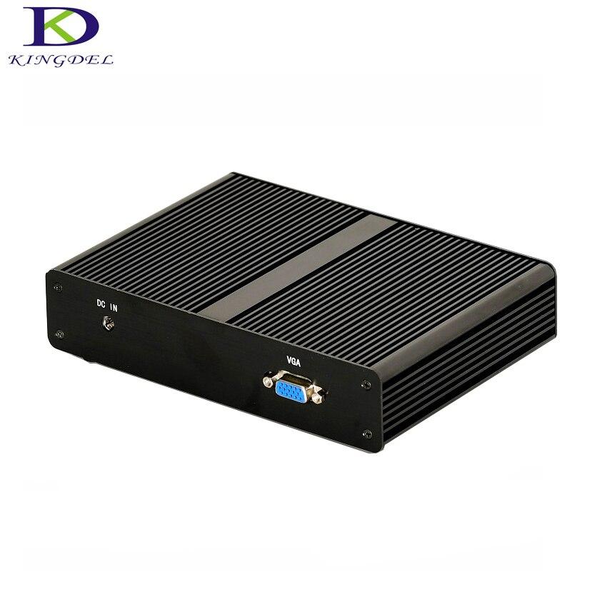 Kingdel Micro Desktop PC Intel J1900 Quad Core Mini Computer RAM+MSATA SSD 4 LAN Firewall Multi-function Router TV Box Windows 7