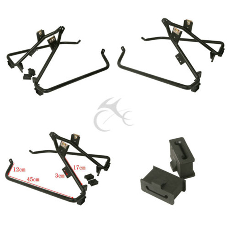 Saddlebag Support Brackets For Harley Road Street Glide FLHX FLTR 09-13 Touring Road King Electra Glide Motorcycle 9 windscreen windshield trim case for harley touring road glide fltr 1998 2013