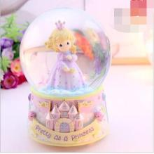 free shipping Beautiful little princess crystal ball rotating music box