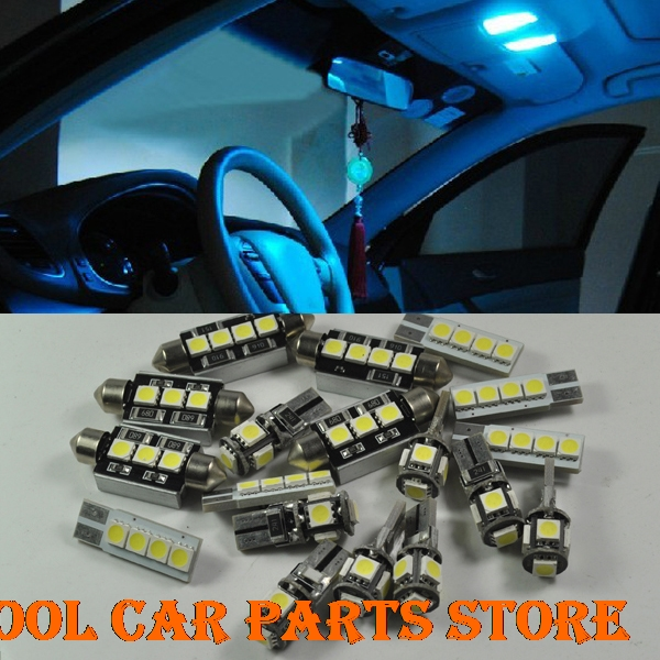 Ice Blue Error Free 10 Light SMD LED Interior kit Package For <font><b>VOLVO</b></font> <font><b>XC</b></font> <font><b>90</b></font> image