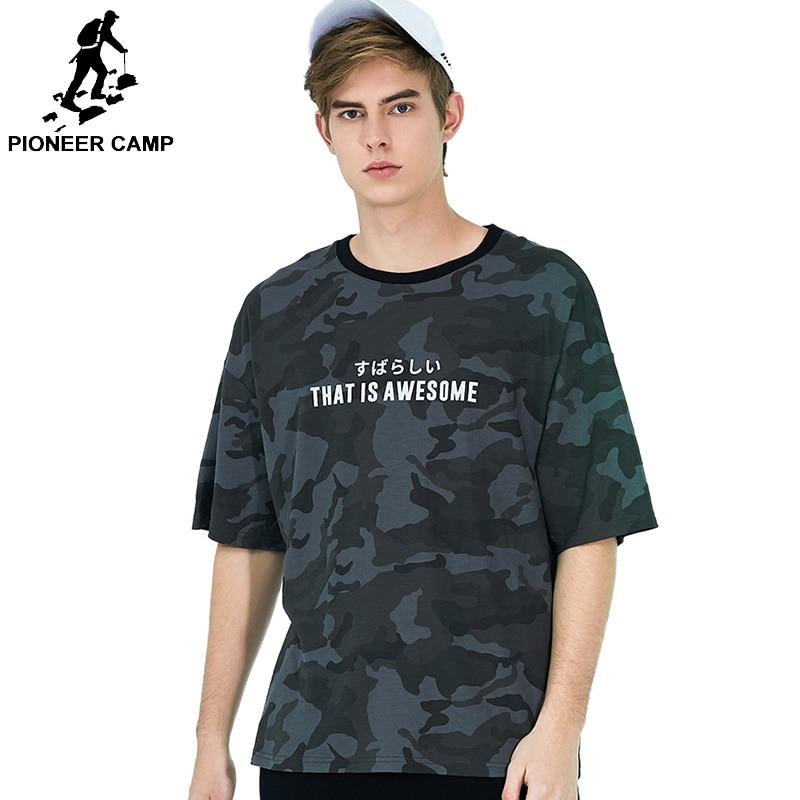Pioneer Camp 2019 Men T large Shirt Short Sleeve Brand Clothings Mens Tees Top Streetwear Military Camouflage  ADT901166