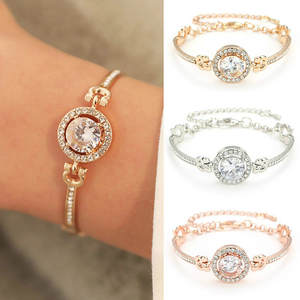 Charm Bracelets Married Fashion Jewelry Rhinestone Rose-Gold Silver Personality Women
