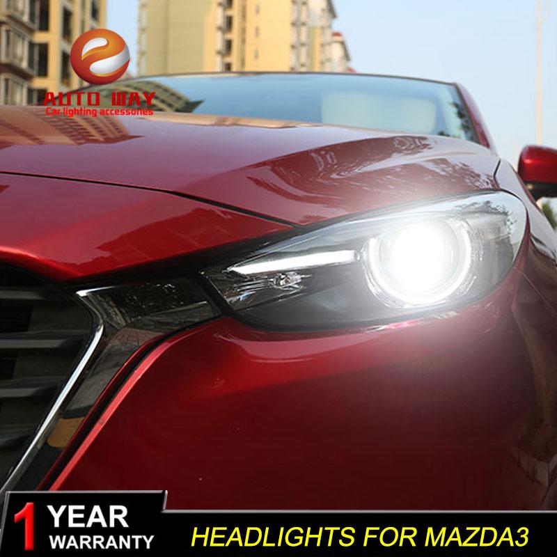 Գլխի լամպի պահոց Mazda 3 M3 Axela Mazda3 2017 2018 - Ավտոմեքենայի լույսեր - Լուսանկար 4