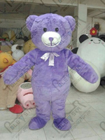 Export High Quality Personality Customizable Purple Teddy Bear Cute Cartoon Mascot Costume Adult Size Fluffy Teddy