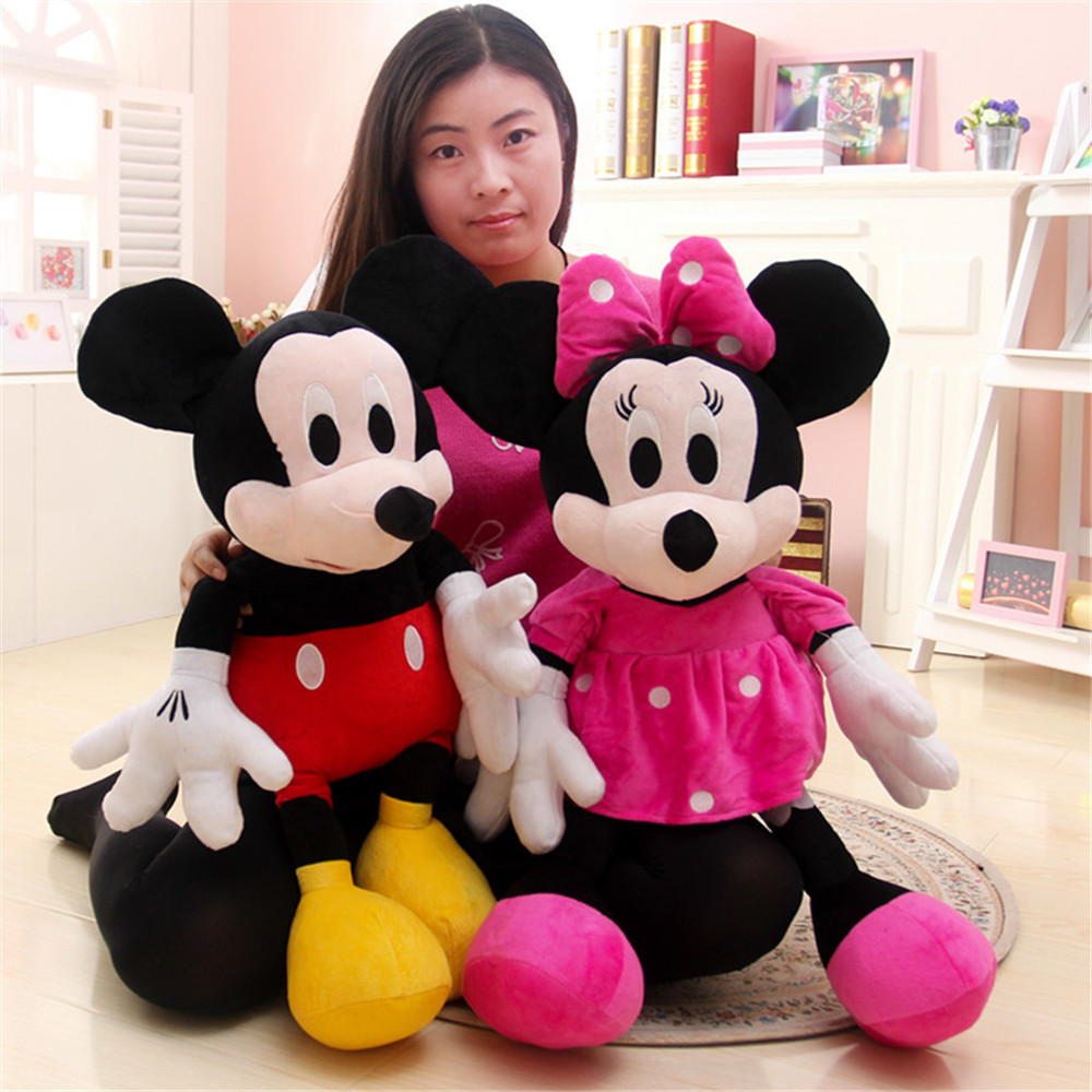 30cm Mickey Mouse And Minnie Mouse Toys Soft Toy Stuffed Animals Plush Toy For kids Christmas Gifts 3d model relief for cnc in stl file format animals and birds 2