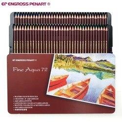 Calidad del artista 72 lapices de Color acuarela profesional de núcleo suave Soluble en agua lápices de colores Set para dibujo de Bellas Artes Sketch
