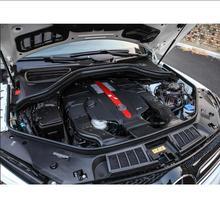 2 шт. Тюнинг автомобилей капот автомобиля Красный Нержавеющая сталь наклейки для Mercedes benz GLE купе c292 w166 ML GLS CLS W219 R class W251