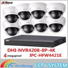 4MP Dahua IP Mini Dome Camera IPC-HDBW4421E 8Channel 4K NVR 8POE Surveillance System Set Kit