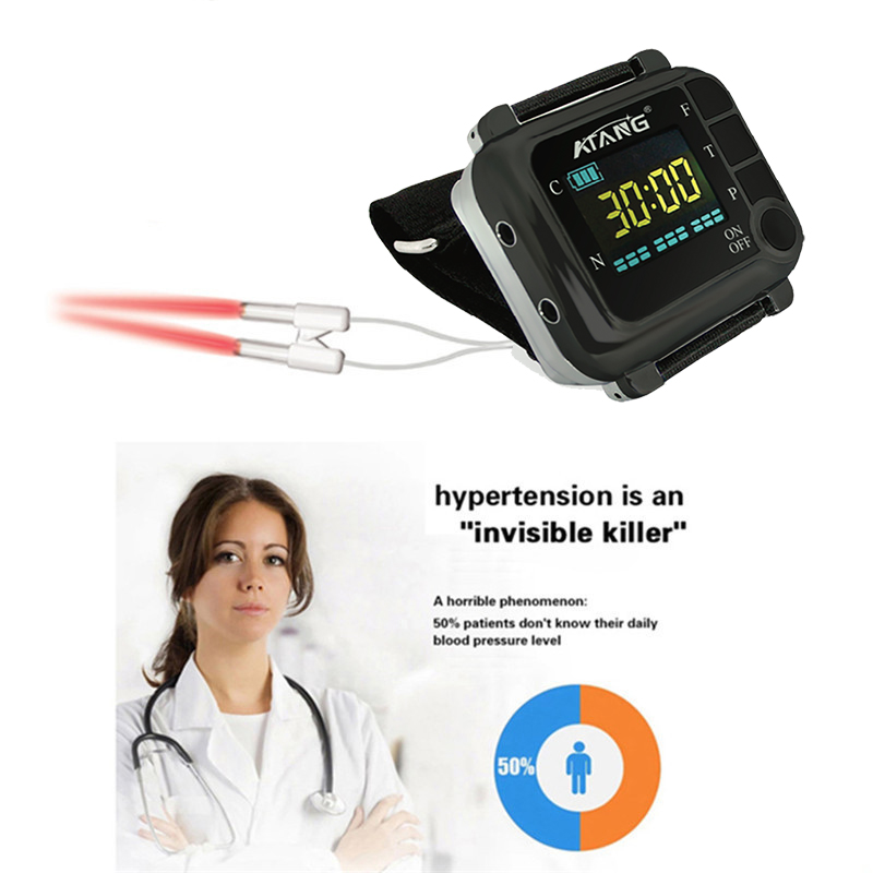 Infrared laser wrist watch 650 nm clean blood Diabetes treatment Hypotensive Accelerate the discharge of lipid waste