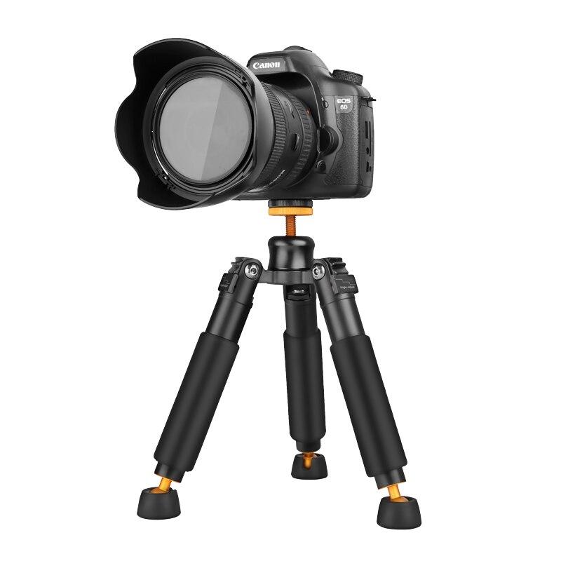 QZSD Q178 Portable Light Desktop Mini Table Tripod Monopod Base Unipod Support Tripod Stand for DSLR SLR Video Cameras Load 3KG