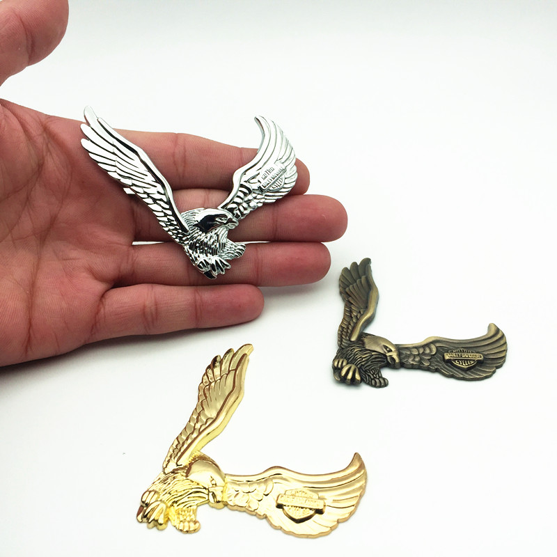 YONGXUN 3D Eagle Zinc Alloy Metal Car Motorcycle Sticker Eagle Emblem Badge DIY Car Styling Stickers Accessories Modifying Anima hot sale 1pc longhorn hilux 900mm graphic vinyl sticker for toyota hilux decals badges detailing sticker car styling accessories
