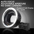Enfoque automático ef-nex lente adaptador de montaje para canon ef ef-emount fx ef-s de lentes para sony e nex e-mount 3/3n/5n/5r/7/a7 a7r ar7ii completo T10