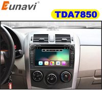 Eunavi 2 din Android 7,1 8,1 dvd плеер gps для Toyota Corolla 2007 2008 2009 2010 2011 1024*600 экран 8 ''стерео радио