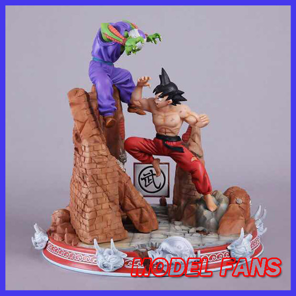 MODEL FANS INSTOCK Dragon Ball Z 42cm Son Goku vs Piccolo gk resin action figure toy for Collection model fans in stock dragon ball z mrc 30cm son gohan practice gk resin statue figure toy for collection