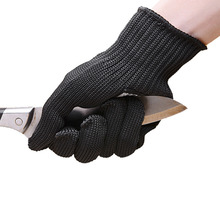New 1 Pc Safety Anti-skid Anti-Cutting Gloves With Palm Dotted Stainless Steel Wire Cut-Resistant Gloves For searching Well Sell