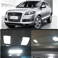 Car LED 11pcs Per Set Leds Bulb Interior Dome Map Trunk Package Kit For Audi Q7