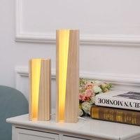 Современные деревянные настольные лампы E27 AC110V 240V ЕС США Plug студент настольная лампа Спальня ночники Indoor Гостиная Спальня лампа