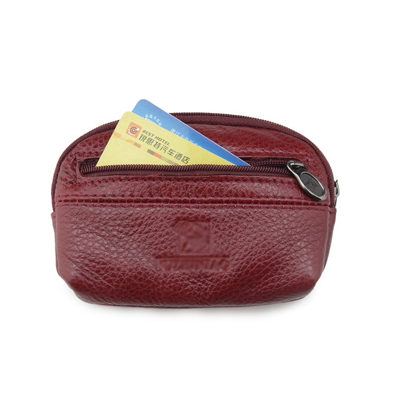 Multifunction Genuine Mini Cow Leather Cowhide Men Car Key Wallet Wallets Holder Bag Coin Purse Housekeeper (customize available