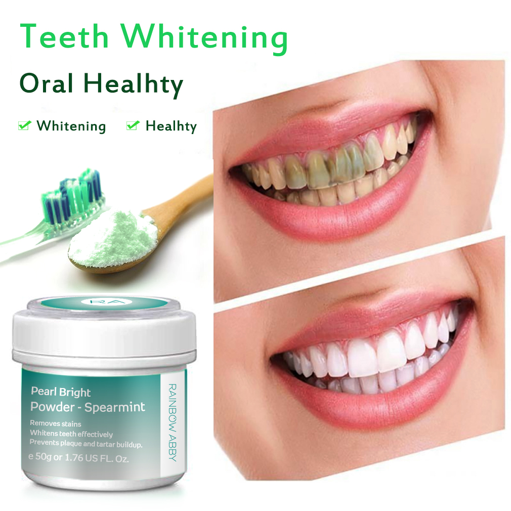 Mint Flavor Teeth Whitening Powder 50g 100% Natural Nanoscale Activated Charcoal Oral Care Tooth Cleaning Powder Remove Stain