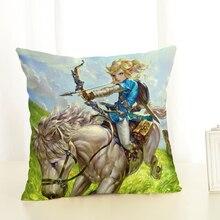 Link Legend of Zelda Art Print Game Throw Pillow Case Cushion Cover Home Decor 18