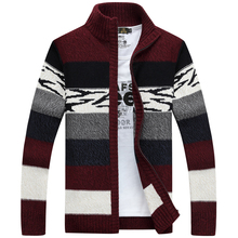 2016 NEW Warm Thick mens Cardigans Sweaters Men Winter&spring Sweater Tops stand Collar Men slim Casual dress Knitwear
