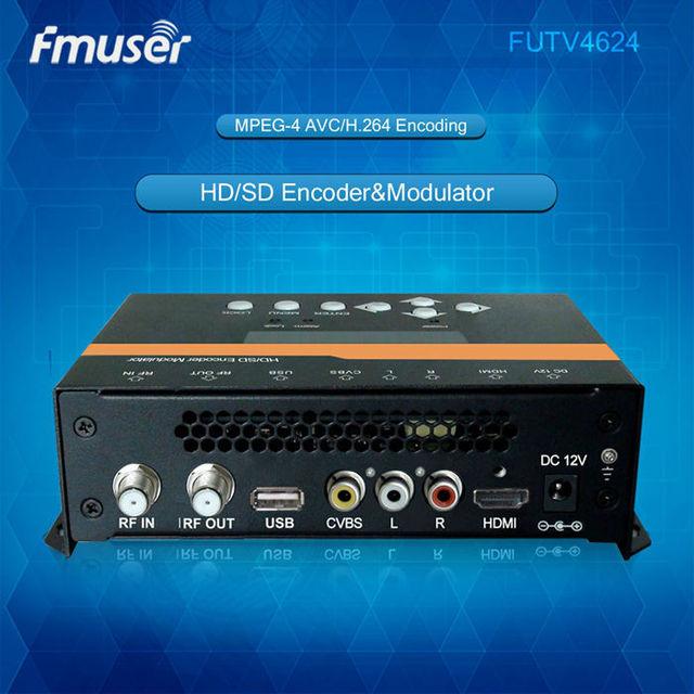 Futv4624 dvb-t mpeg-4 avc/H.264 SD/HD кодер модулятор для дома Применение