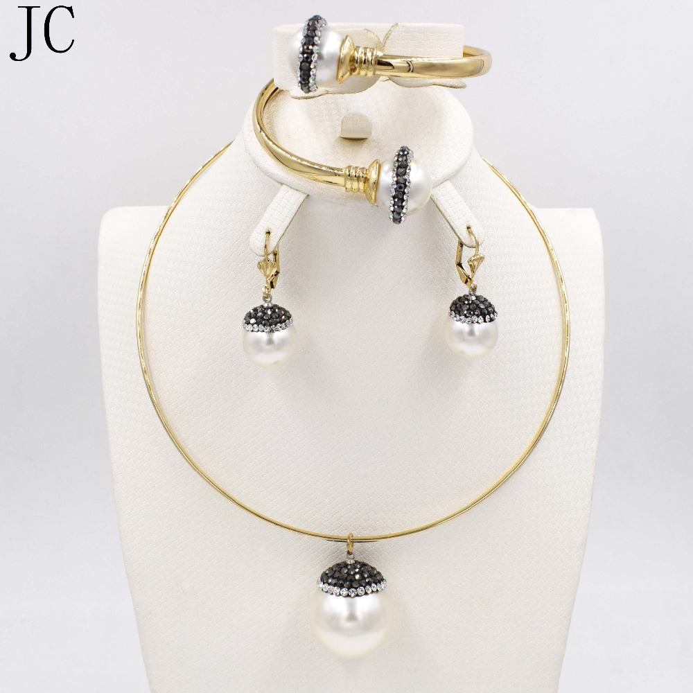African Jewelry Sets Fine Wedding Gold Plated Crystal Necklace Set Party font b Women b font