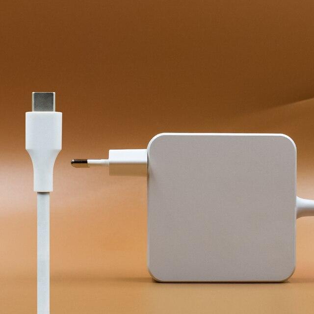 Para apple probado 61 W USB-C adaptador de corriente tipo C cargador para el último Macbook pro 13 pulgadas A1706 A1707 a1708A1718 para teléfono inteligente