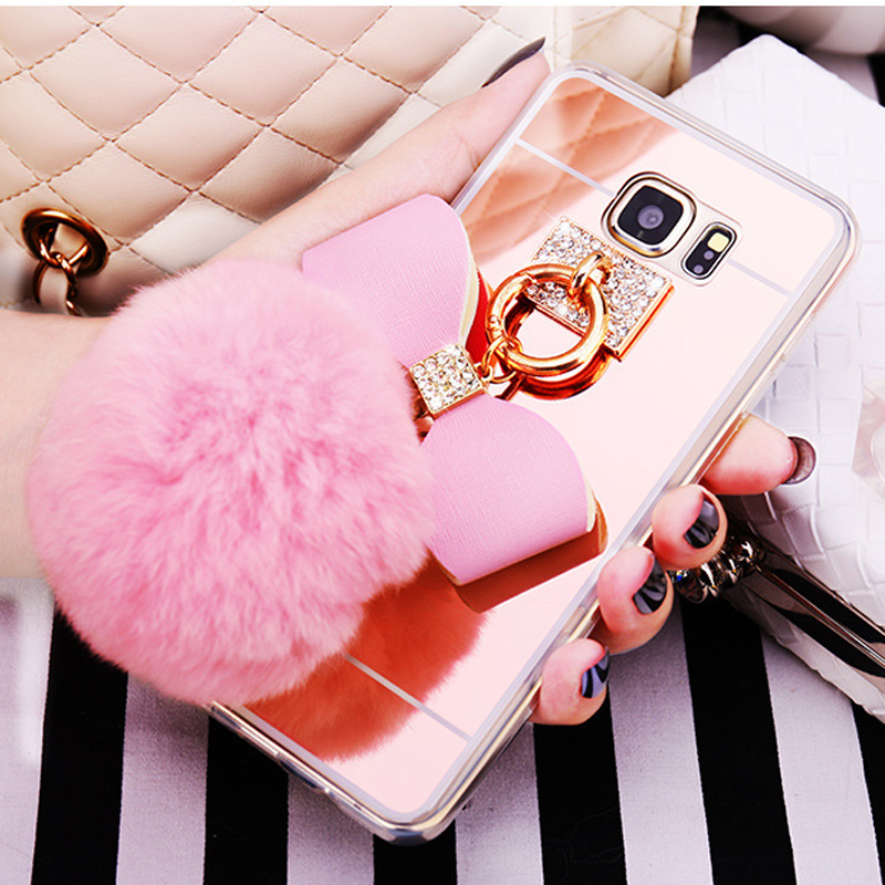 For Samsung S20 Ultra Note 10 9 8 S10 S9 S8 Plus S10E S7 Edge A3 A5 A7 J3 J5 J7 2017 J4 J6 A8 2018 Fur Ball Tassel Soft Cases
