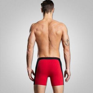 Image 3 - 4pcs/lot Cotton Long Leg Mens Boxer Underwear Cuecas Calzoncillos Pants Men Shorts Loose Calecon Pour Homme Mens Boxers XXXL