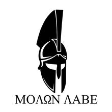 14cmx16cm molon labe vir e levá-lo espartano capacete vinil adesivo do carro decalques preto/prata C1-3159