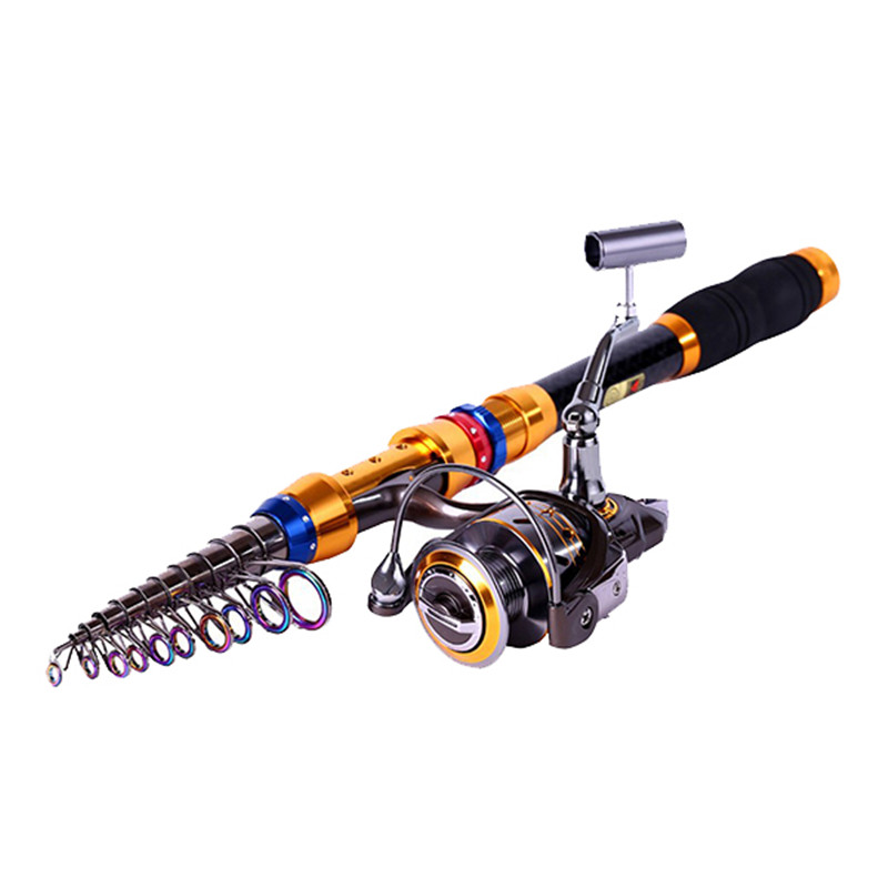 Bobing Carbon&Metal Telescopic Fishing Rod&Reel Combo Portable Travel Saltwater Spinning Fishing Pole Set Pesca Tackle Box Tools goture spin spinning reel rod combos carbon telescopic fishing rod with reel combo sea saltwater freshwater kit fishing rod kit
