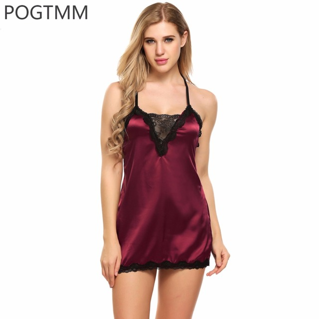 Sexy Night Lingerie Erotica Baby Doll Dress Women Lace Satin Hot Erotic Sex Clothes Sexi Short Negligee Underwear Langerie Porn