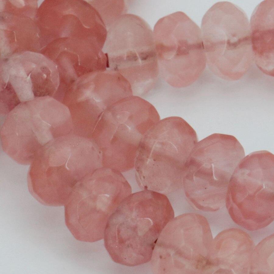 Nouveau 6*8mm à facettes gris perles de cristal 70pcs Bijoux À faire soi-même