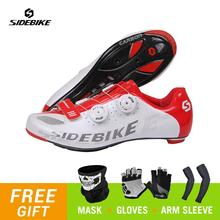 SIDEBIKE Cycling Shoes Road MTB Shoes Men Bicycle Outdoor Sports Racing Mountain Bike Shoes Self-locking Triathlon Sneakers sidebike men mountain bike shoes cycling road bicycle mtb shoes breathable wear resistant self locking cycling sneakers white