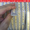 Hot Selling 180led/m Waterproof LED Tape 5630 5730 SMD LED Strip Light 220V 240V White / Warm White New