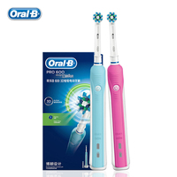Oral B D16523 Electric Toothbrush Oral Hygiene Dental Care Electric Rechargeable Tooth Brush Teeth Whitening for Adult Pink&Blue