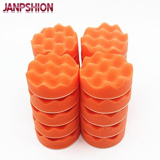 JANPSHION 20PC 80mm automobilių poliravimo buferio pagalvėlės, - Elektriniai įrankiai - Nuotrauka 6