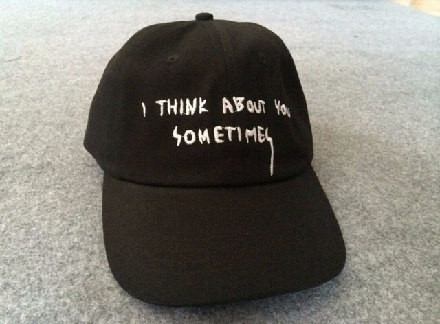 642db2573ff NEW RARE HATS RARE GIANNI MORA SUMMER NOTE CAP IAN CONNOR I THINK ABOUT YOU  SOMETIMES SNAPBACK HAT FREE SHIPPING