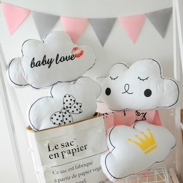 US $19 24 49% OFF|Novelty Cloud Crown Soft Toy Emoji Plush Cushion&Pillow  Cartoon Home Decoration Pillow Baby Appease Doll Kids Toys Girls Gift-in