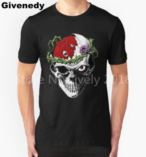 Berserk Crânio impresso T Camisa Homens de Manga Curta Casuais Camisetas Masculinas Hip hop top tees verão nova marca