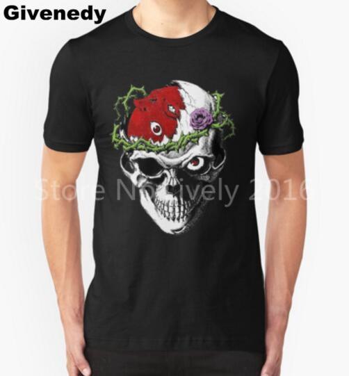 Berserk Skull printed T Shirt Men Casual Short Sleeve Masculinas Camisetas Hip hop top tees summer new brand
