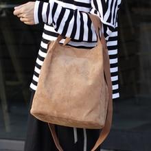 Sztruksowa torebka damska typu Bucket dla kobiet tkanina Casual Big Capcity górna rama do torebki dla kobiet moda torba na ramię Hipster torebka