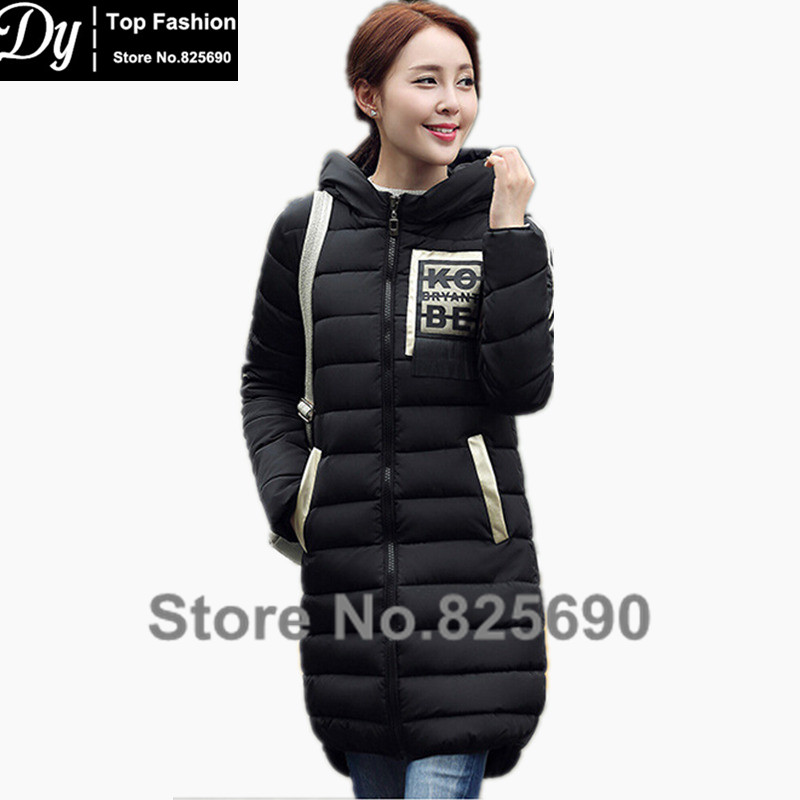 ФОТО Women's New Wadded Winter Jacket Women Cotton Long Jackets Fashion Slim  Patch Designs Tassel Hooded Parkas Female Coat