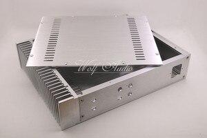 Image 4 - BZ3207C כסף מארז אלומיניום מלא מגבר מארז מיני AMP תיבת חד צדדי רדיאטור מקרה
