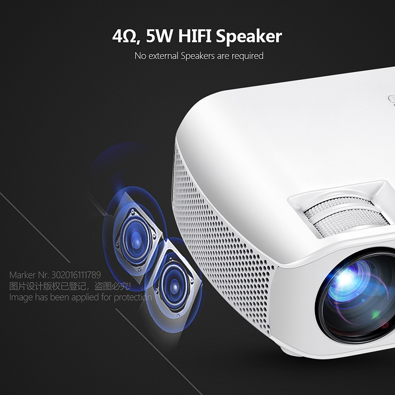 Image 4 - AUN MINI Projector F10UP, 1280*720P, Android 7.1 (2G+16G)  WIFI LED Proyector for 1080P 3D Home Cinema, New HDMI Video Beamer-in LCD Projectors from Consumer Electronics