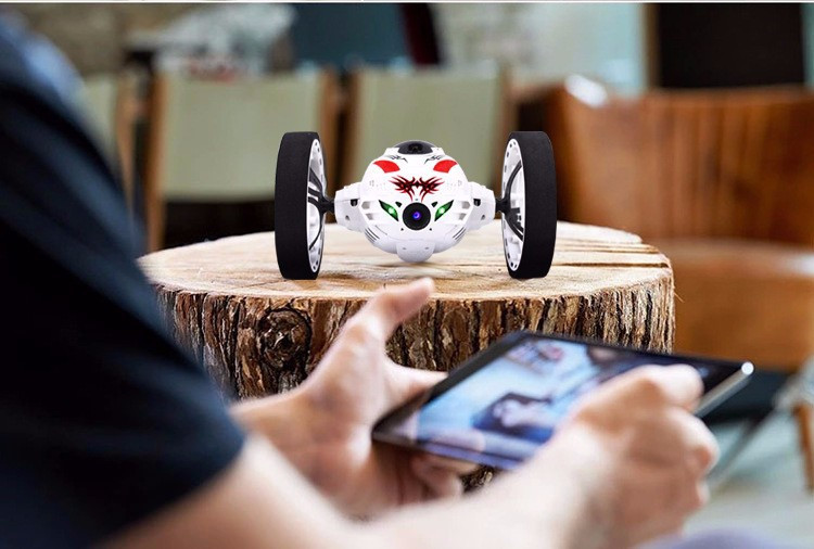 Phone App Remote Control Mini Car 2.0MP WIFI Camera Upgraded Bounce Stunt Robot RC Toy Funy Gift For Kids Children mini rc car toys for children gift electric wireless radio remote control robot bounce speed racing stunt jumping car