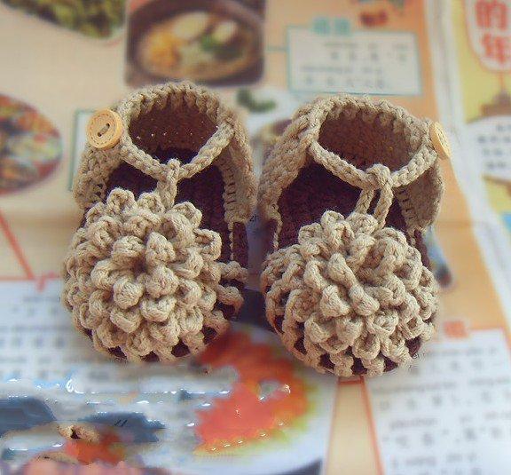 Flower Baby Shoes Crochet Pattern Handmade Barefoot Sandals Blooms