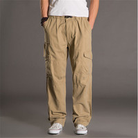 5XL 6XL 7XL Casual Long Trousers Plus Size Cotton Breathable Baggy Military Style Cargo Pants For Men A922