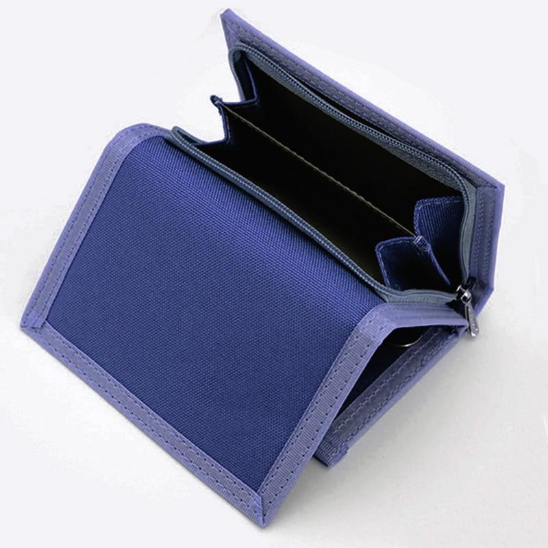 Krátký multifunkční plachta Studentská peněženka Zipper Magic 3 Fold Design Pánská peněženka 3 barvy 12 * 8.5cm X104